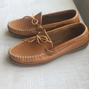 Minnetonka Moccasin Men's Leather Slide Slip On 11